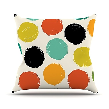 KESS InHouse Retro Dots by Daisy Beatrice Circles Throw Pillow; 16'' H x 16'' W x 1'' D