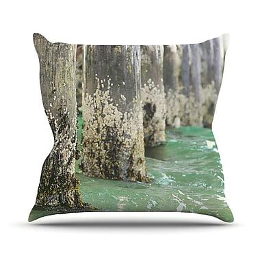 KESS InHouse Saltwater Pylons by Debbra Obertanec Wooden Throw Pillow; 26'' H x 26'' W x 1'' D