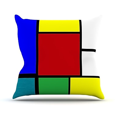 KESS InHouse Mondrian and Me by Oriana Cordero Squares Throw Pillow; 20'' H x 20'' W x 4'' D