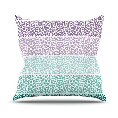 KESS InHouse Riverside Pebbles Colored by Pom Graphic Throw Pillow; 26'' H x 26'' W x 5'' D
