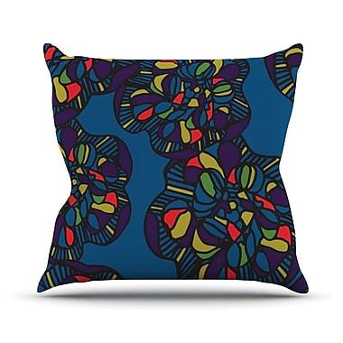 KESS InHouse Mushroom Flower by Sonal Nathwani Throw Pillow; 18'' H x 18'' W x 3'' D