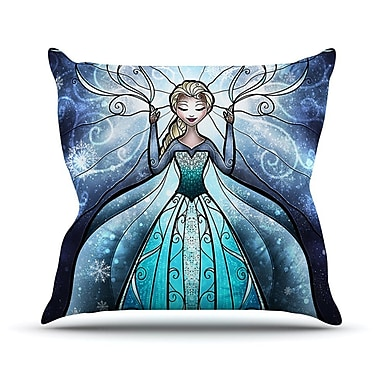 KESS InHouse The Snow Queen by Mandie Manzano Frozen Throw Pillow; 26'' H x 26'' W x 5'' D
