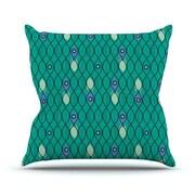 KESS InHouse Suncoast Emerald by Allison Beilke Throw Pillow; 18'' H x 18'' W x 1'' D
