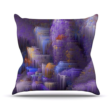 KESS InHouse Mountain Majesty by Michael Sussna Throw Pillow; 20'' H x 20'' W x 4'' D