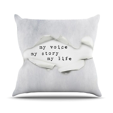 KESS InHouse My Life by Ingrid Beddoes Paper Text Throw Pillow; 26'' H x 26'' W x 5'' D