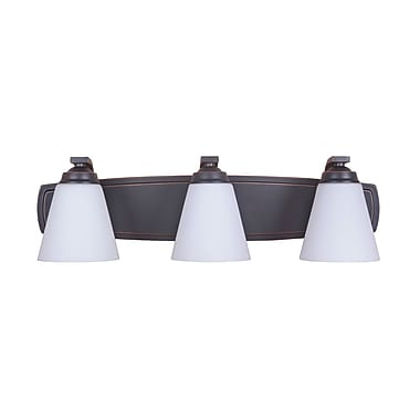 MarianaHome Metropolis 3-Light Vanity Light; Oil Rubbed Bronze