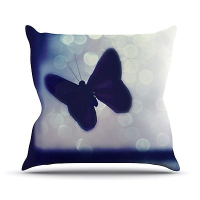 KESS InHouse Enchanted by Robin Dickinson Butterfly Throw Pillow; 16'' H x 16'' W x 3'' D