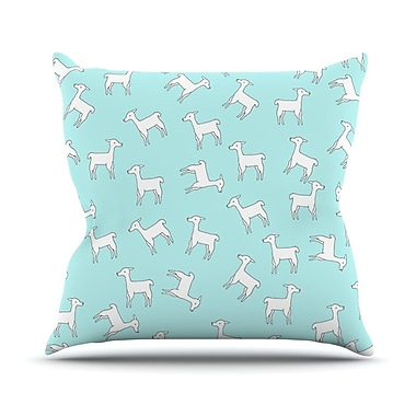 KESS InHouse Baby Llama Multi by Monika Strigel Throw Pillow; 18'' H x 18'' W x 3'' D