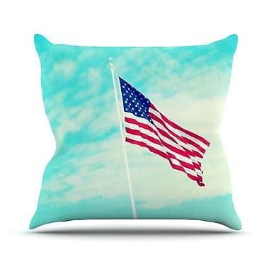 KESS InHouse USA by Robin Dickinson Flag Throw Pillow; 18'' H x 18'' W x 3'' D