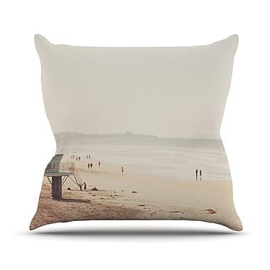 KESS InHouse Beach Day by Myan Soffia Beach Ocean Throw Pillow; 18'' H x 18'' W x 3'' D