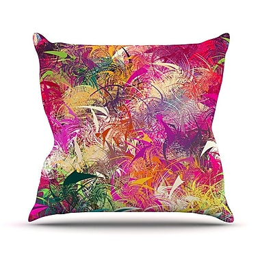 KESS InHouse Splash by Danny Ivan Rainbow Abstract Throw Pillow; 16'' H x 16'' W x 1'' D