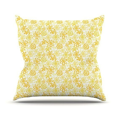 KESS InHouse Paper Daisy by Julie Hamilton Throw Pillow; 26'' H x 26'' W x 5'' D
