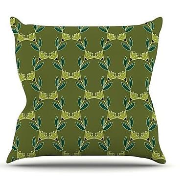 KESS InHouse Flora Vine by Holly Helgeson Throw Pillow; 26'' H x 26'' W x 1'' D