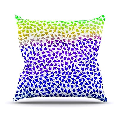 KESS InHouse Aqua Arrows by Sreetama Ray Throw Pillow; 26'' H x 26'' W x 5'' D WYF078277655539