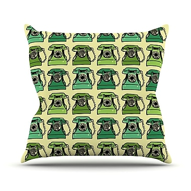KESS InHouse Grandma's Telephone by Holly Helgeson Throw Pillow; 20'' H x 20'' W x 4'' D