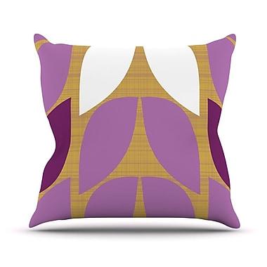 KESS InHouse Orchid Petals Throw Pillow; 16'' H x 16'' W x 1'' D