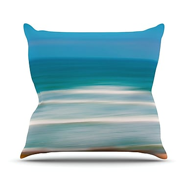 KESS InHouse Sun and Sea Throw Pillow; 20'' H x 20'' W x 3'' D