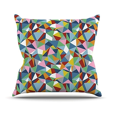 KESS InHouse Abstraction by Project M Rainbow Abstract Throw Pillow; 26'' H x 26'' W x 5'' D