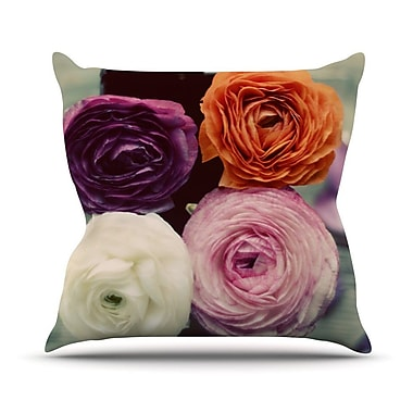KESS InHouse Four Kinds of Beauty by Cristina Mitchell Roses Throw Pillow; 16'' H x 16'' W x 1'' D