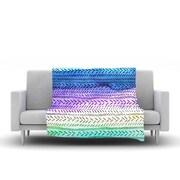 KESS InHouse Aqua by Sreetama Ray Fleece Throw Blanket; 40'' H x 30'' W x 1'' D