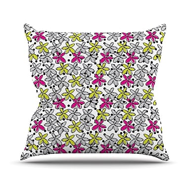 KESS InHouse Floral Spread by Nandita Singh Throw Pillow; 18'' H x 18'' W x 3'' D