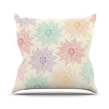 KESS InHouse Spring Florals by Pom Graphic Rainbow Throw Pillow; 18'' H x 18'' W x 3'' D