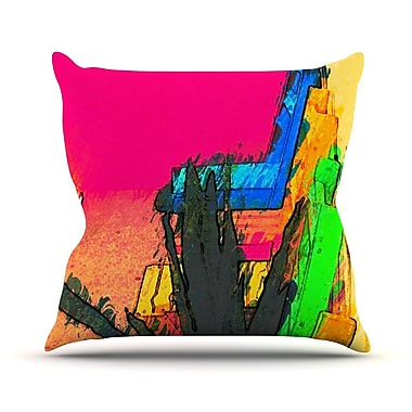 KESS InHouse Days of Summer by Oriana Cordero Rainbow Abstract Throw Pillow; 20'' H x 20'' W x 4'' D