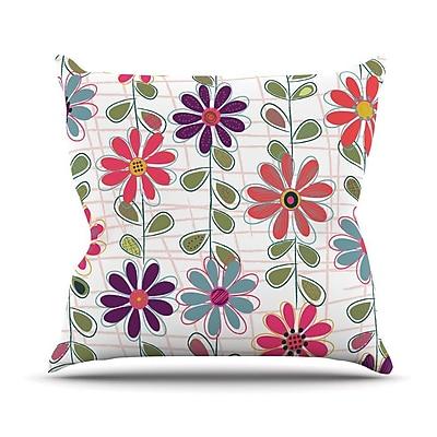 KESS InHouse Fall Flowers by Jolene Heckman Floral Throw Pillow; 26'' H x 26'' W x 5'' D