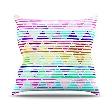 KESS InHouse Stripes by Sreetama Ray Rainbow Chevron Throw Pillow; 20'' H x 20'' W x 4'' D