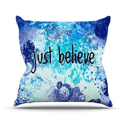 KESS InHouse Just Believe by Ebi Emporium Throw Pillow; 18'' H x 18'' W x 3'' D
