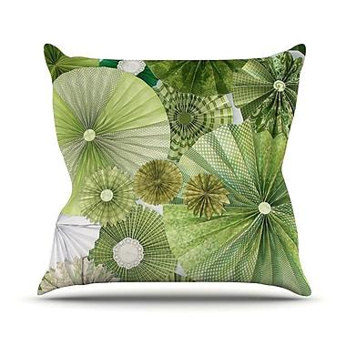 KESS InHouse Green Thumb by Heidi Jennings Throw Pillow; 18'' H x 18'' W x 3'' D