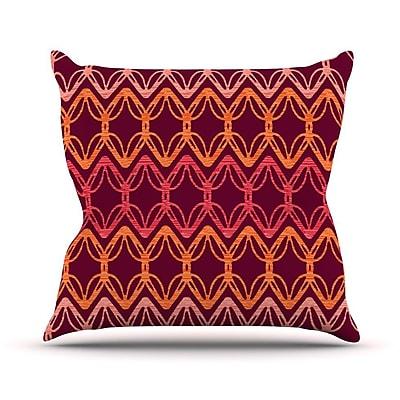 KESS InHouse Rick Rack by Suzie Tremel Throw Pillow; 18'' H x 18'' W x 3'' D