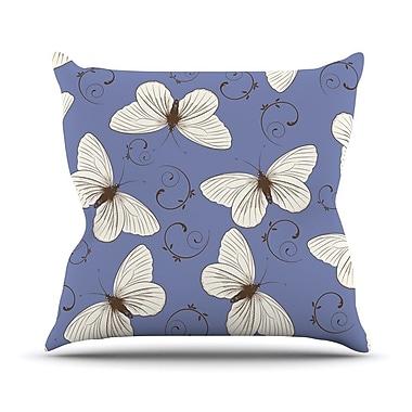 KESS InHouse Butterflies by Louise Throw Pillow; 16'' H x 16'' W x 3'' D