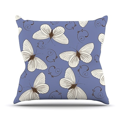KESS InHouse Butterflies by Louise Throw Pillow; 20'' H x 20'' W x 4'' D
