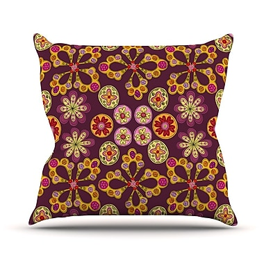 KESS InHouse Indian Jewelry Floral by Jane Smith Throw Pillow; 18'' H x 18'' W x 3'' D