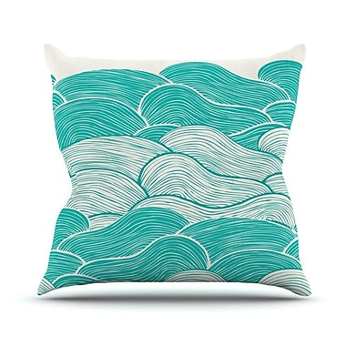 KESS InHouse The Calm and Stormy Seas by Pom Graphic Throw Pillow; 16'' H x 16'' W x 3'' D