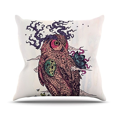 KESS InHouse Regrowth by Mat Miller Natural Owl Throw Pillow; 26'' H x 26'' W x 5'' D