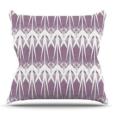 KESS InHouse Arrow Lavender by Alison Coxon Throw Pillow; 16'' H x 16'' W x 1'' D