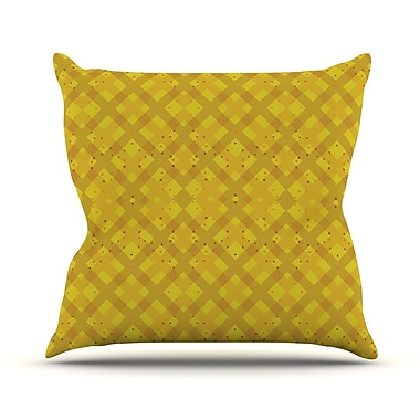 KESS InHouse Dotted Plaid by Mydeas Geometric Throw Pillow; 20'' H x 20'' W x 1'' D