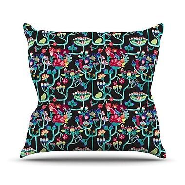 KESS InHouse Antique Folk by Agnes Schugardt Rainbow Throw Pillow; 20'' H x 20'' W x 1'' D