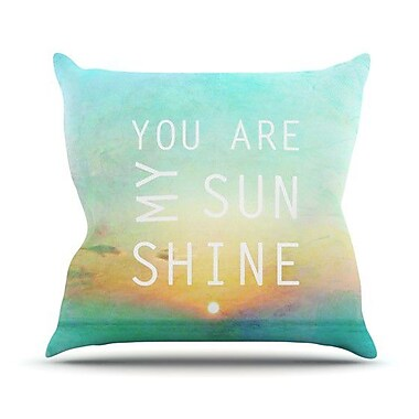 KESS InHouse You Are My Sunshine by Alison Coxon Throw Pillow; 20'' H x 20'' W x 1'' D