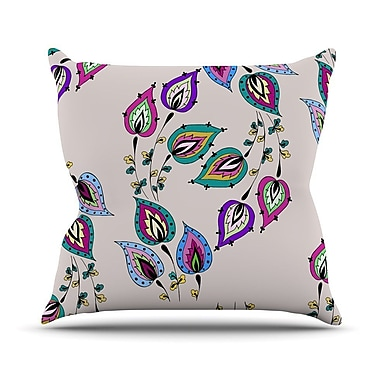 KESS InHouse Leave by Louise Throw Pillow; 16'' H x 16'' W x 3'' D