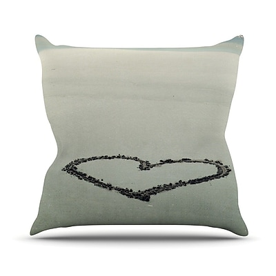 KESS InHouse I Love The Beach by Robin Dickinson Ocean Sand Throw Pillow; 26'' H x 26'' W x 5'' D