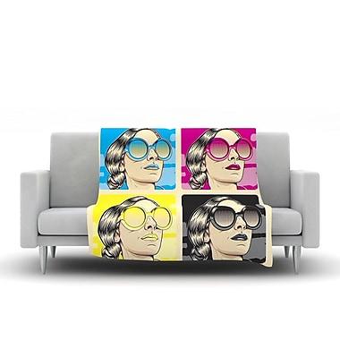 KESS InHouse CMYK Fashion by Roberlan Fleece Throw Blanket; 80'' H x 60'' W x 1'' D