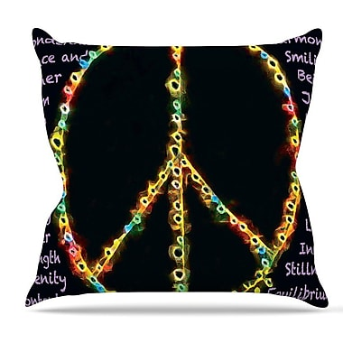KESS InHouse Peaceful Meditation by Anne LaBrie Rainbow Throw Pillow; 26'' H x 26'' W x 1'' D