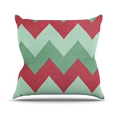 KESS InHouse Holiday Chevrons by Catherine McDonald Throw Pillow; 16'' H x 16'' W x 1'' D