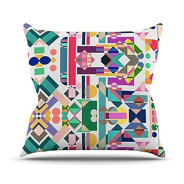 KESS InHouse Geometry 2B by Mareike Boehmer Rainbow Abstract Throw Pillow; 20'' H x 20'' W x 4'' D