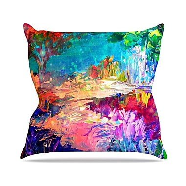 KESS InHouse Welcome to Utopia by Ebi Emporium Rainbow Throw Pillow; 16'' H x 16'' W x 3'' D