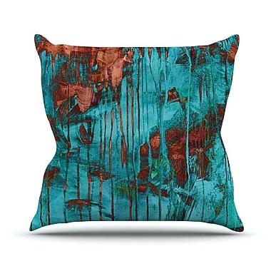 KESS InHouse Rusty by Iris Lehnhardt Paint Throw Pillow; 20'' H x 20'' W x 4'' D