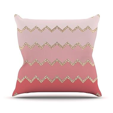 KESS InHouse Avalon Ombre by Monika Strigel Chevron Throw Pillow; 26'' H x 26'' W x 5'' D